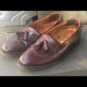 Bostonian Men's Maroon Dress Shoes Cap Toe Size 9D
